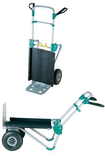 wolfcraft TS 1000 Transportsystem 5520000 | 2in1 Sackkarre & Schubkarre für Lasten bis 200 kg | Klappbarer Transportkarren für schwere Gartenmöbel, Brennholz,...