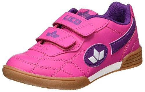 Lico Bernie V Mädchen Multisport Indoor Schuhe, Pink/ Lila/ Weiß, 31 EU