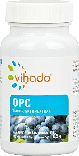 Vihado Grape Seed Extract OPC-Premium Red Grape Premium -kapseleita, 110-kapseleita, 1er-pakkausta (1 x 16,5 g)