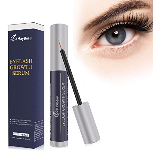Eyelash Serum Eyebrow Serum Eyelash Booster MayBeau for Strong and Fast Eyelash Growth Natural Eyelash Extension More Length Dense Eyelash Growth ...