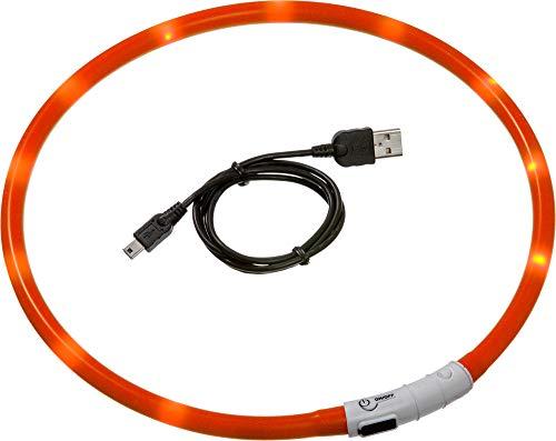 Karlie 64904 Visio Light LED Schlauchhalsband L: 20 - 70 cm orange
