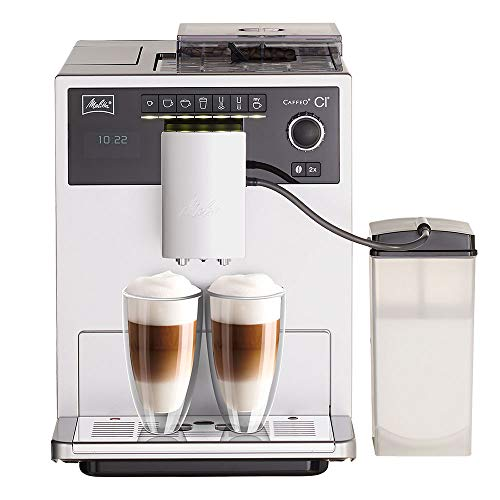 Melitta Caffeo CI E970-101 Kaffeevollautomat | mit Milchbehälter | Zweikammern-Bohnenbehälter | One Touch Funktion | 15 Bar | Automatische Reinigungsprogramme |...