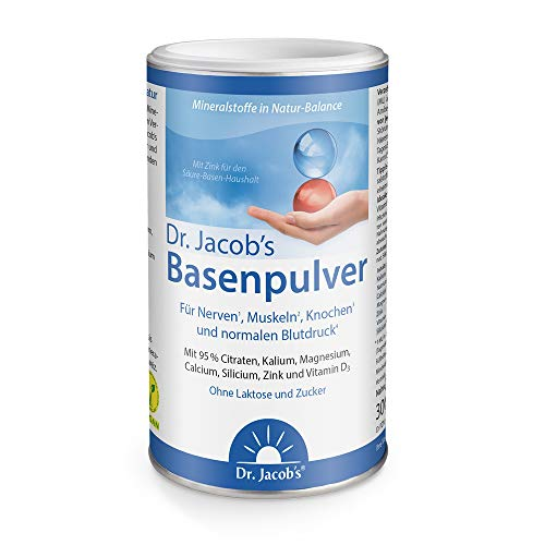 Dr. Jacob's Basenpulver auf Citratbasis I mit über 30 Gesundheitswirkungen I besonders viel Kalium wie in Gemüse und Obst, Calcium Magnesium Zink Vitamin D, auch...