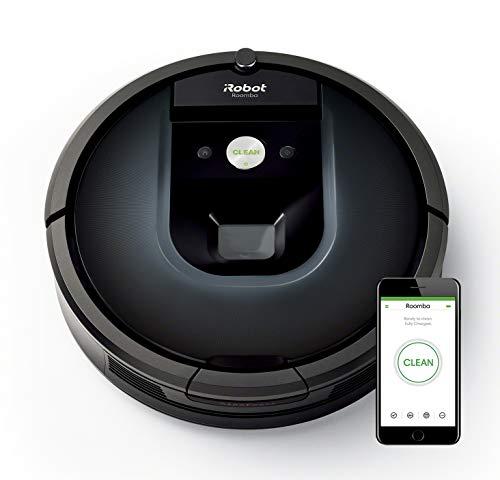 iRobot Roomba 981 Saugroboter mit 3-stufigem Reinigungssystem, Raumkartierung, Teppich-Turbomodus, zwei Multibodenbürsten, WLAN Staubsauger Roboter für Hartböden,...
