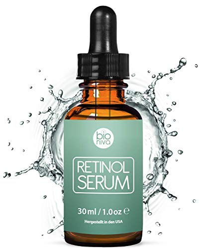 Retinol Serum Testsieger 2019 - 2,5% Retinol Liposomen Liefersystem mit 20% Vitamin C & Vegan Hyaluronsäure - Anti-Aging Lift Serum, Für Gesicht, Dekolleté und...