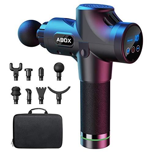 ABOX-hierontapisto niska-olkapäähieronta-aseelle hierontalaite sähköinen rentoutus 8 hierontapäällä ja 30 nopeudella täyttävällä laitteella ...
