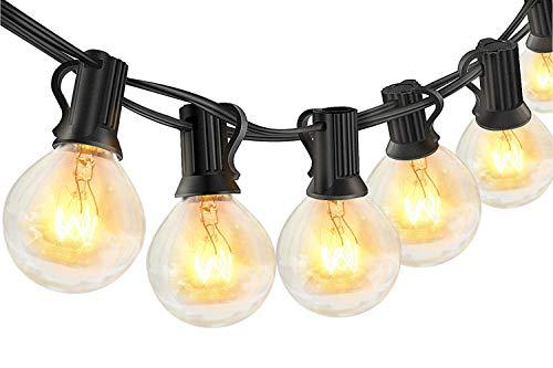 10M Lichterkette Außen Glühbirnen - 30+6 Stücke G40 Glühbirnen, Lichterketten Deko für Party Garten Balkon Weihnachten und Innenzimmer, Warmweiß [Energieklasse...