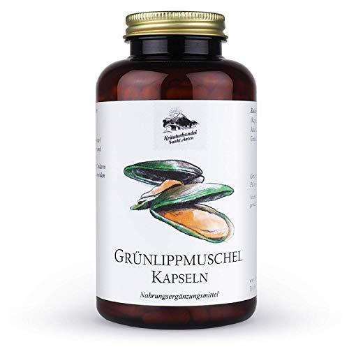 KRÄUTERHANDEL SANKT ANTON® - Grünlippmuschel Kapseln - 100% Grünlippmuschelpulver aus Neuseeland - mit Glycosaminoglykane - Deutsche Premium Qualität (300...