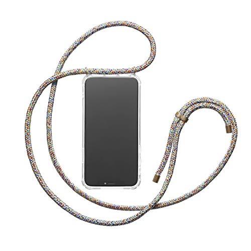 KNOK Handykette für iPhone 8/7- Silikon Hülle mit Band - Handyhülle für Smartphone zum Umhängen - Transparent Case mit Schnur - Schutzhülle mit Kordel in...