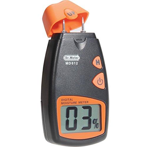 Digital Feuchtigkeitsmesser-Holz Dr. Meter Tester von Holzfeuchte, tragbares 2Pin, DIGITAL LCD HD mit 2Pin Ersatz- und eine Batterie 9V (die zwei inklusive)...