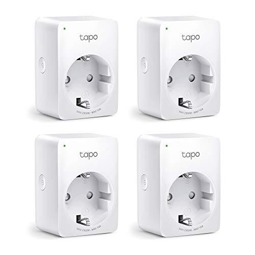 TP-Link Tapo Smart WLAN Steckdose,Alexa Steckdose 4er Pack, Smart Home WiFi Steckdose, Alexa Zubehör,funktioniert mit Alexa,Google Home,Tapo App, Sprachsteuerung,...