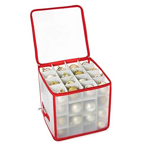 Robuste Aufbewahrungsbox für Weihnachtsschmuck, Organizer-Tasche mit Griffen - Bewahren Sie bis zu 64 Standard-Weihnachtskugeln Und Weihnachtsdekoration Sicher auf...