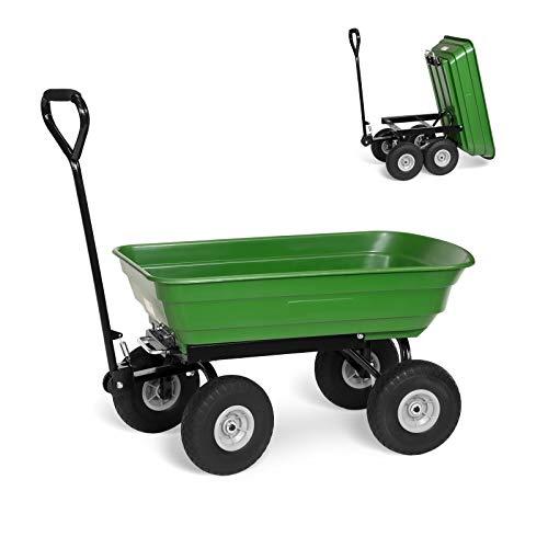Pannensicherer Gartenwagen mit Kippfunktion 250 kg Bollerwagen Transportwagen