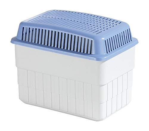 WENKO Feuchtigkeitskiller mit 1 kg Granulatblock, Raumentfeuchter, fasst bis zu 1,4 l Feuchtigkeit, laborgeprüft, nachfüllbar, reduziert Schimmel und Gerüche,...