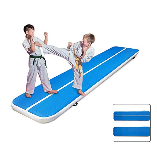 Morffa 400x100x20cm Aufblasbare Gymnastikmatte Air Track Taumelnde Matte für Gymnastic Gym