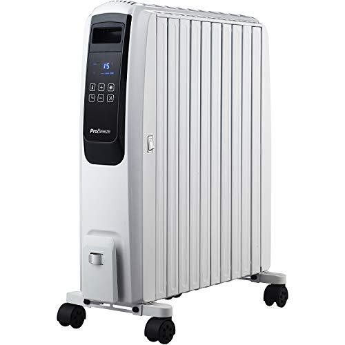 Pro Breeze 2500W Ölradiator mit digitalem Display - elektrischer, energiesparender Heizkörper mit 10 Rippen, Timer, 4 Heizstufen, Thermostat, Fernbedienung,...