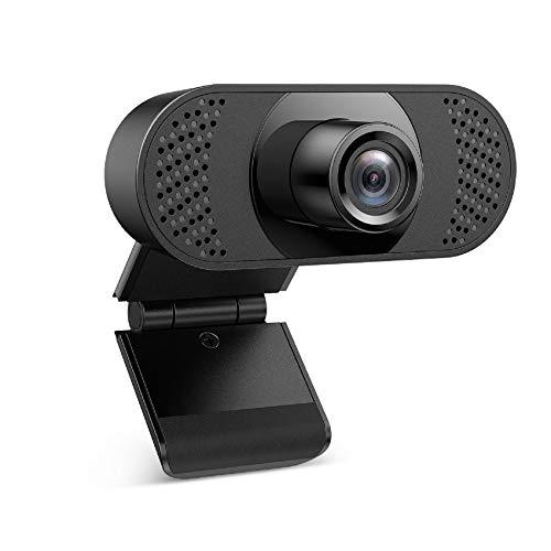 Unbekannt Ehome Webcam mit Mikrofon, Webcam 1080P für Laptop, Desktop, USB 2.0 Hd Webcam pc,mit automatischer Lichtkorrektur für Live-Streaming, Videoanrufe,...