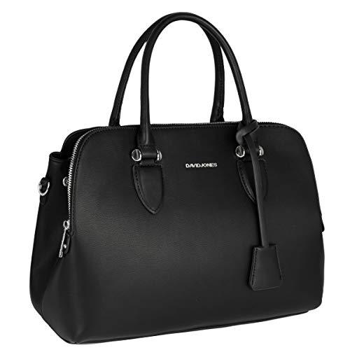 David Jones - Damen Handtasche Henkeltasche Bugatti - Tote Shopper PU Leder Schultertasche - Multi Pocket Viele Fächer Zip Umhängetasche - Frau Elegante Tasche -...