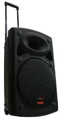 Mobile PA Sound System Battery-MP3-USB-SD incl. Wireless microphones 900W Soundsystem E-Lektron EL38-M