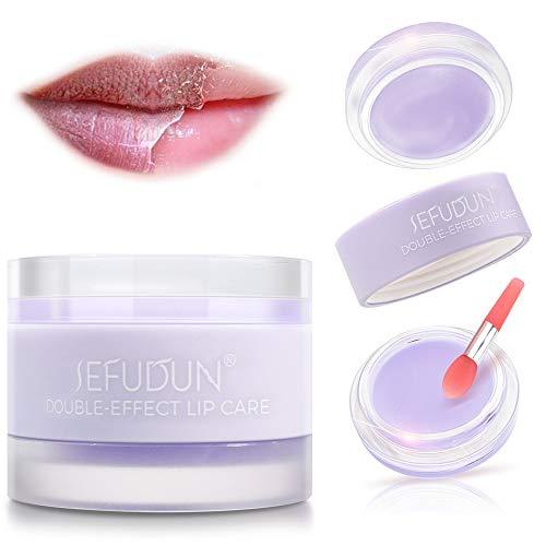 Lippenmaske, Lippenschlafmaske, Lippenfeuchtigkeitscreme, Lippenpeeling zur Entfernung abgestorbener Haut und Intensive Lippenreparaturbehandlung, verblassende...