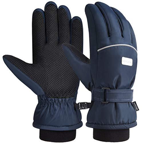 VBIGER Ski Handschuhe Skating Handschuhe Warm Winter Handschuhe Verdickt Kalt Wetter Handschuhe Beiläufig Outdoor Sports Handschuhe Winddicht Geeignet für 6-12...