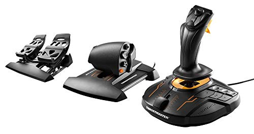 Thrustmaster T16000M FCS Flight Pack (Hotas System inkl. Pedale, T.A.R.G.E.T Software, PC)