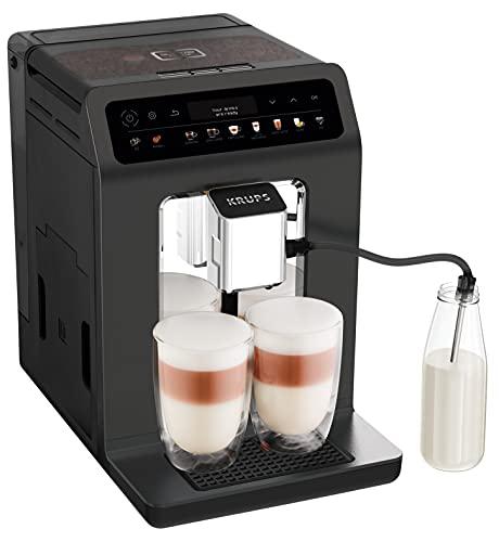 Krups EA895N Kaffeevollautomat Evidence One   One-Touch-Cappuccino   Doppel-Tassen-Funktion   12 Getränkespezialitäten   Farbdisplay   2,3L Wassertank   1450 Watt