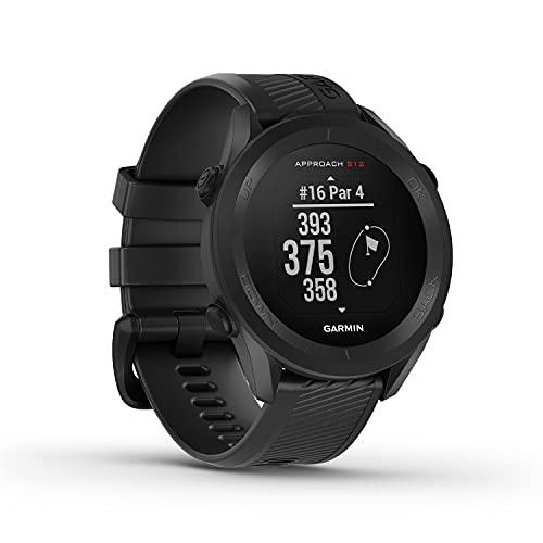 """Garmin Approach S12 - GPS-Golfuhr mit Schlagweitenmessung & Distanzangaben zum Grün/ Hindernissen auf 42.000 Golfplätzen. 1,3"""" Display mit einfacher Bedienung &..."""
