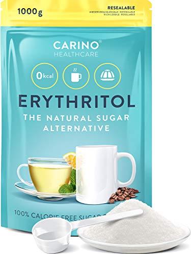 Erytritoli-sokeri Vaihtoehtoinen kalorivapaa 1.000g Kalorivapaa - Vegaani- ja gluteeniton