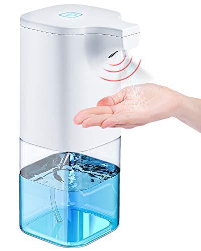 Tesoky automaattinen desinfiointiaine-annostelija automaattinen suihkeannostelija 350 ml anturilla varustettu infrapuna-saippua-automaatti automaattinen kylpyhuoneisiin, keittiöihin, hotelleihin, ...