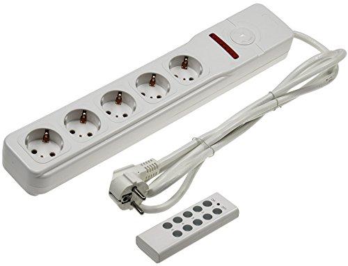 Funk Steckdosenleiste 5-fach mit Fernbedienung 230V I Mehrfach Stecker-Leiste mit Einzelschaltung I 2300 Watt I Weiß