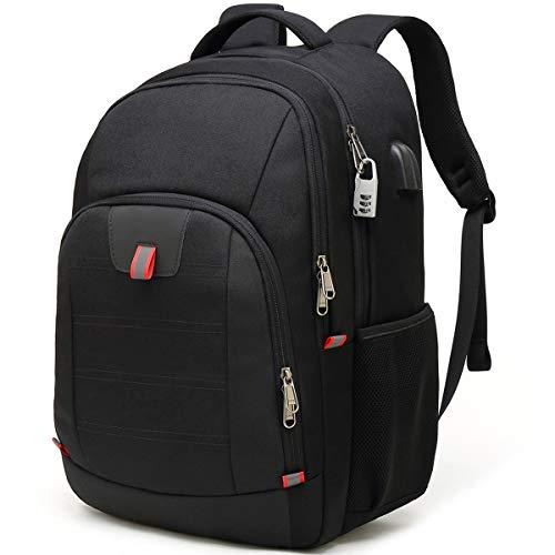 Laptop Rucksack Herren Anti-Diebstahl Rucksack für 17 zoll Laptop Schulrucksack Daypack Multifunktion Business Notebook Taschen Wasserdicht Großer mit USB...