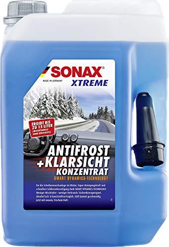 SONAX XTREME AntiFrost+KlarSicht Konzentrat (5 Liter) ergibt bis zu 15 Liter Winter-Scheibenwaschwasser, sofort mischbereit, schlierenfrei, Antikalk-Effekt | Art-Nr....