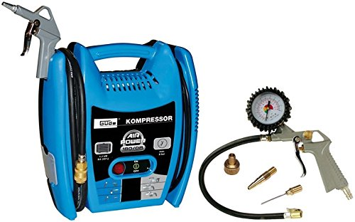Güde 50077 Airpower 180 / 08 compressor (1,1kW, S3, oil-free, 140l / min delivery quantity, 8 bar, 4 M hose)