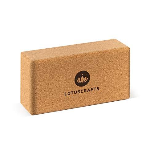 Lotuscrafts Yogablock Kork Supra Grip - ökologisch hergestellt - Yogaklotz aus Naturkork - Korkblock für Yoga und Pilates - Yoga Block für Anfänger und...
