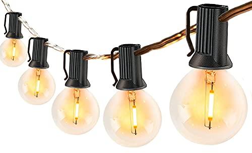 LED Lichterkette Außen mit 30 Glühbirnen für Sommer, 10M Lichterkette Retro aussen/innen warmweiße, Wetterfeste G40 Lichterketten Glühbirnen strombetrieben für...