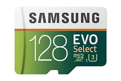 Samsung EVO Select 128 GB microSD 100MB/s, Geschwindigkeit, Full HD & 4K UHD Speicherkarte inkl. SD-Adapter für Smartphone, Tablet, Action-Kamera, Drohne und...