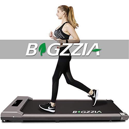 bigzzia Motorisiertes Laufband, unter dem Schreibtisch, tragbares Laufband, flach, schlankes Gerät mit Fernbedienung und LCD-Display für Zuhause, Büro,...