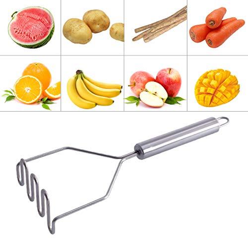 Kartoffelstampfer, Edelstahl Küchengeräte, Gewellter Kartoffelstampfer Kartoffelstampfer Mit Griff, Gourmet-stampfer Einfach Zu Reinigen Und Zu Verwenden