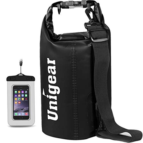 Unigear Dry Bag, 2L/5L/10L/20L/30L/40L, wasserdicht Taschen mit Handytasche und Gurte für Boot und Kajak, Angeln, Rafting, Schwimmen, Camping und Snowboarden,...