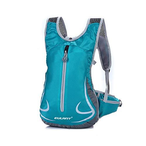 EULANT Wasserdicht Laufrucksack, Kleiner Reiserucksack, Kleiner Rucksack Reflektierend für Skifahren Camping Trekking Bergsteigen Radfahren Joggen, Blau