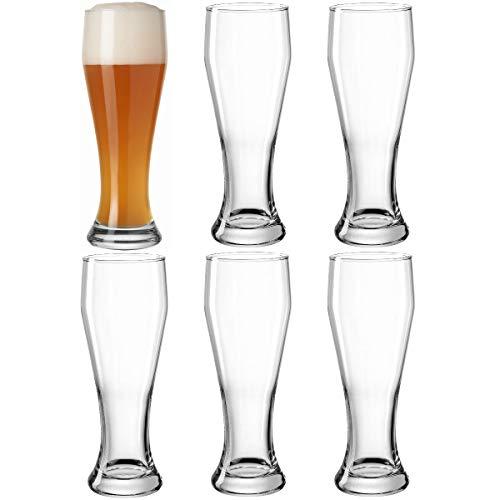 LEONARDO HOME Weizenbierglas 0,5l 6er Set, Glas, 8 cm