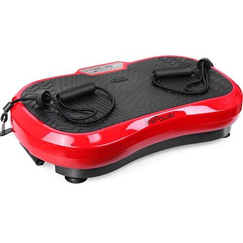 MVPower Vibrationsplatte extra groß Slim und rutschfest, mit Ultra leisem Motor, Ganzkörpertraining zu Hause   Body Shaping Muskel Bauen   Trainingsbänder, 3...