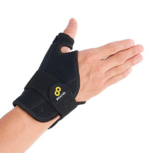 BRACOO TP30 reversible Daumenbandage - Passt rechts und links - Daumenumfang bis 6 cm - Daumenschiene bei Sehnenentzündung und Kapselverletzung