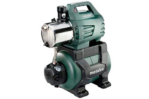 Metabo Hauswasserwerk HWW 6000/25 Inox (1300 Watt, 5,5 bar, 24 Liter, Fördermenge 6000 Liter/Stunde, Rückschlagventil, Start/Stop Automatik Hauswasserautomat mit...