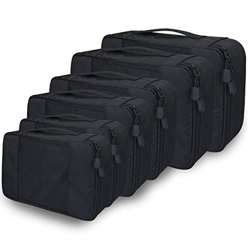 Kleidertaschen Kofferorganizer 6er Set, Netspower Reisen Organizer Tasche Packtaschen Reisegepäck Reisetaschen für Koffer Urlaub Rucksack Kleidung Schuhbeutel...