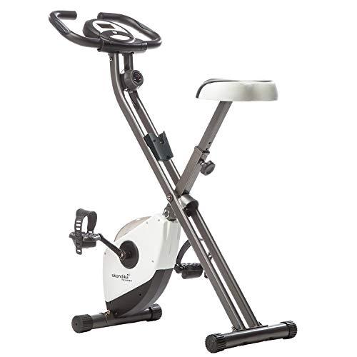 skandika Foldaway X-1000 Fitnessbike Heimtrainer x-Bike F-Bike klappbar mit Handpuls-Sensoren, 8-stufiger Magnetwiderstand, LCD Display, 130 Kg max....