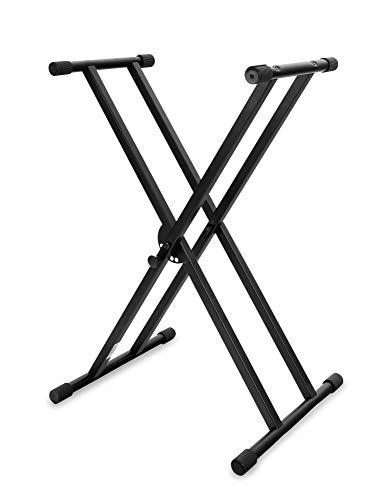 Classic Cantabile Doppelstrebiger Keyboardstnder - 5-Fach hhenverstellbares Keyboard Stativ - Stabiler Keyboard Stand Doppel - Stand fr E-Piano Stagepiano - Klavier...
