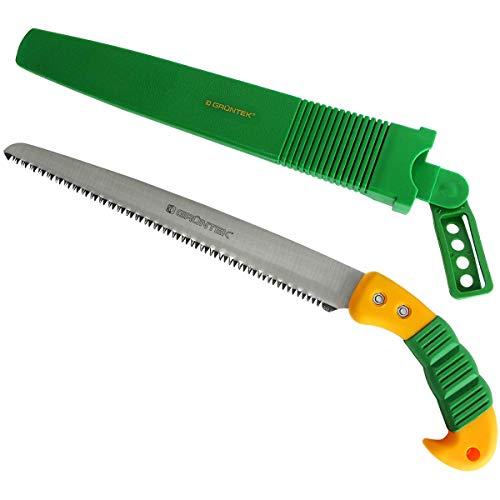 Grntek Gartensge Handsge BARRAKUDA 300 mm, Baumsge mit gehrteten Zhnen und Kunststoffhalfter Holzsge Sge
