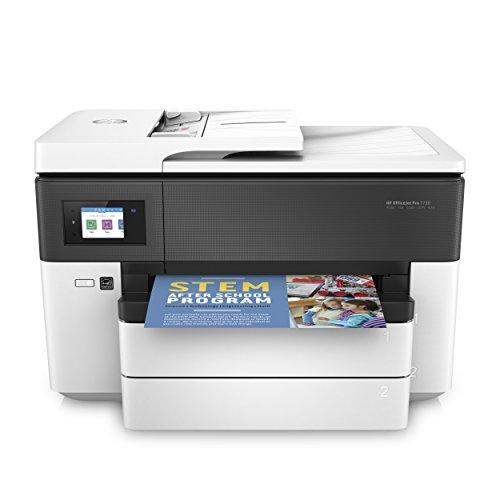 HP OfficeJet Pro 7730 A3-Multifunktionsdrucker (DIN A3, Drucker, Scanner, Kopierer, Fax, WLAN, Duplex, Airprint, 500 Blatt Papierfach) weiß